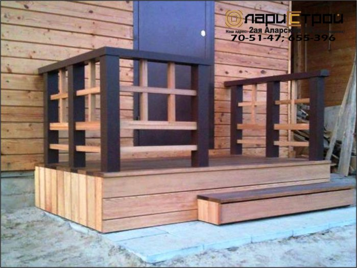 Как сделать деревянное крыльцо в доме